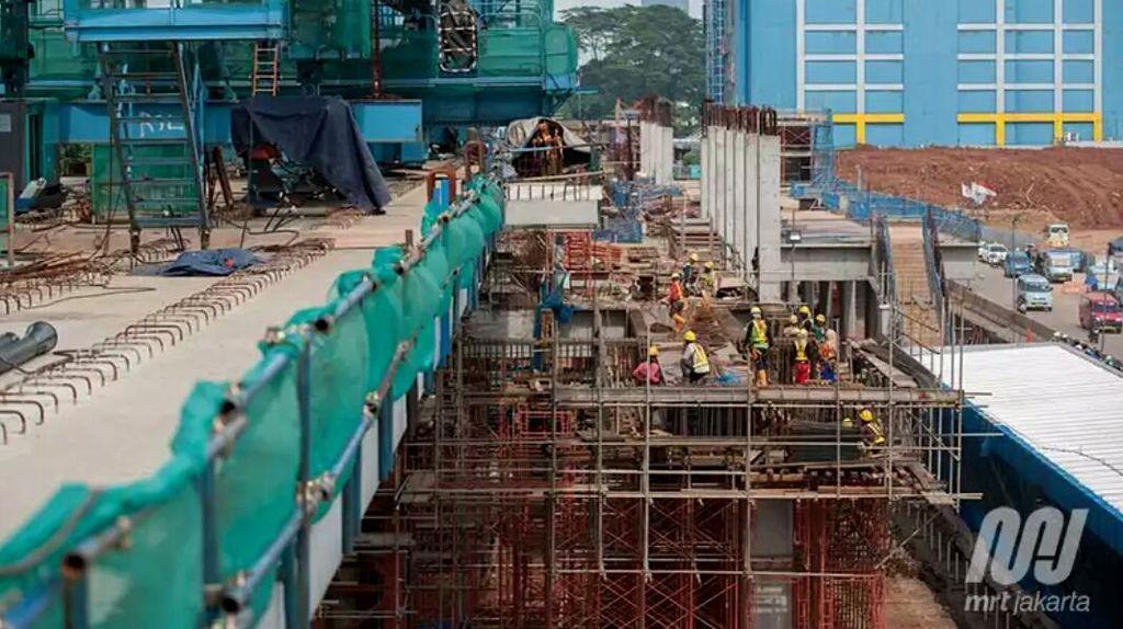 Proyek MRT Lebak Bulus-Bundaran HI Capai 75%