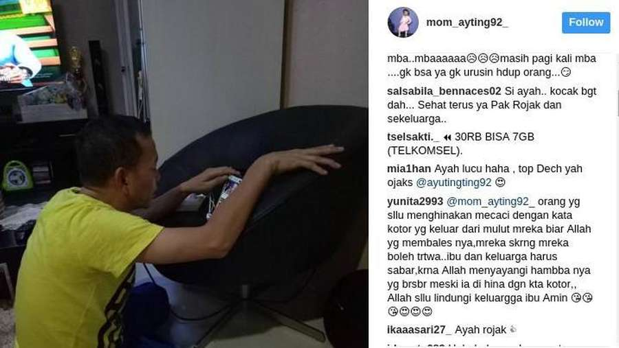 Ribut-ribut Abdul Rojak Bukan Ayah Kandung Ayu Ting Ting