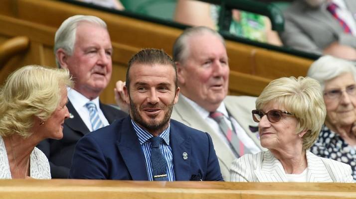 Tampil Necis, Beckham Tonton Aksi Nadal dan Murray di Wimbledon