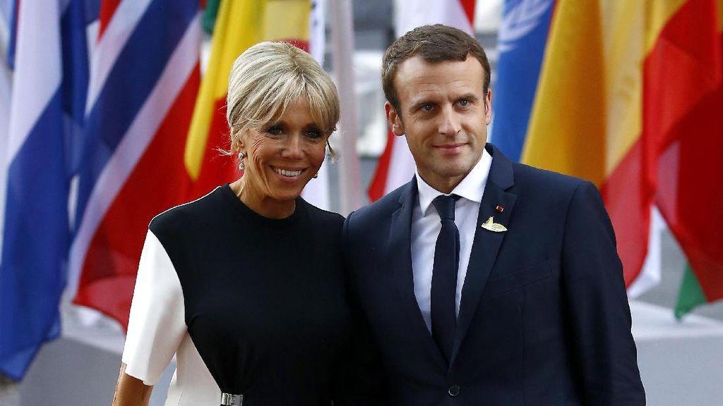 Donald Trump Puji Tubuh Langsing Istri Presiden Prancis: Badan Kamu Bagus
