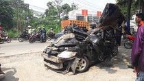 3 Korban Tewas Tabrakan Truk di Bocimi Sekeluarga Asal Serang
