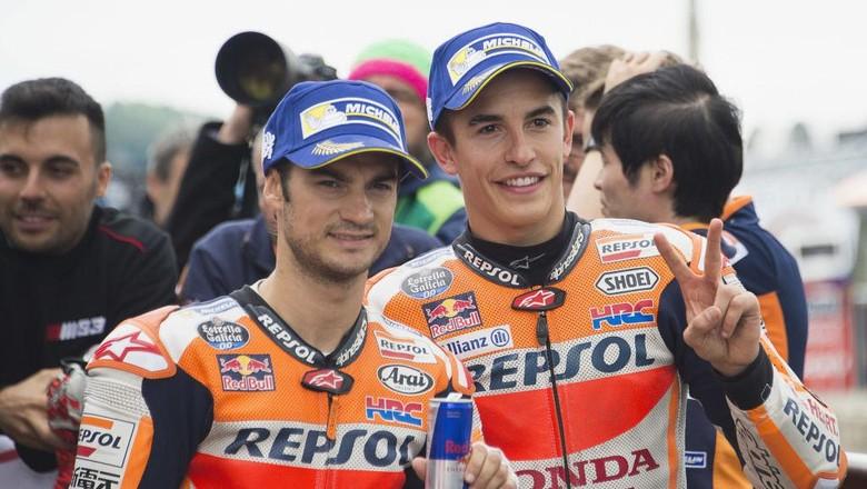 Marquez dan Pedrosa Bikin Gelas Honda Saat Ini Separuh Penuh