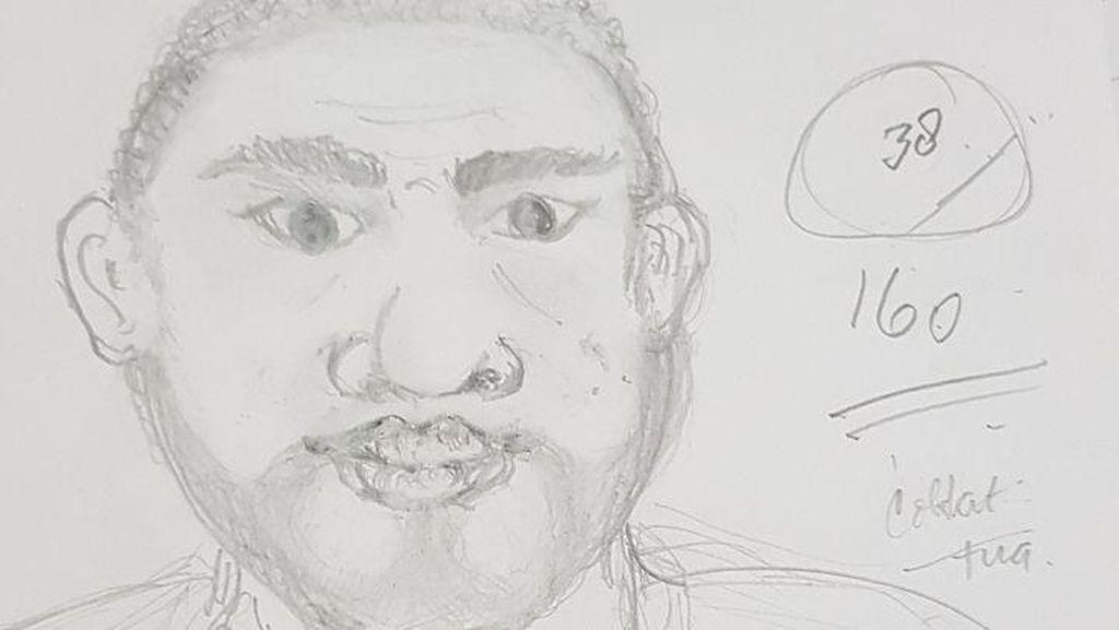 Ini Sketsa 3 Wajah Pelaku Pembacokan Ahli IT Hermansyah