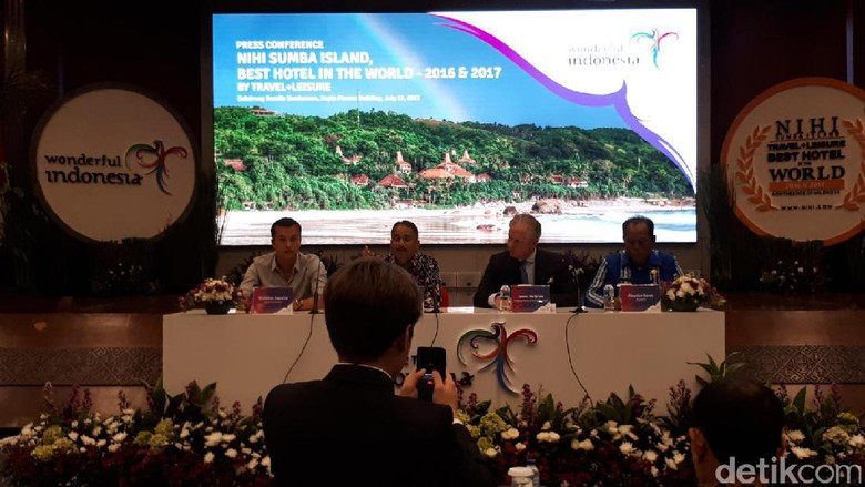 Foto: Suasana Press Conference Nihi Sumba Island di Kemenpar (Randy/detikTravel)