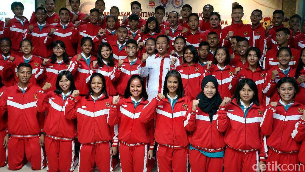 Menpora Lepas Kontingen ASG Singapura 2017