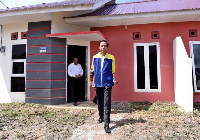 Jokowi Resmikan Rumah DP 1% di Kalimantan Timur