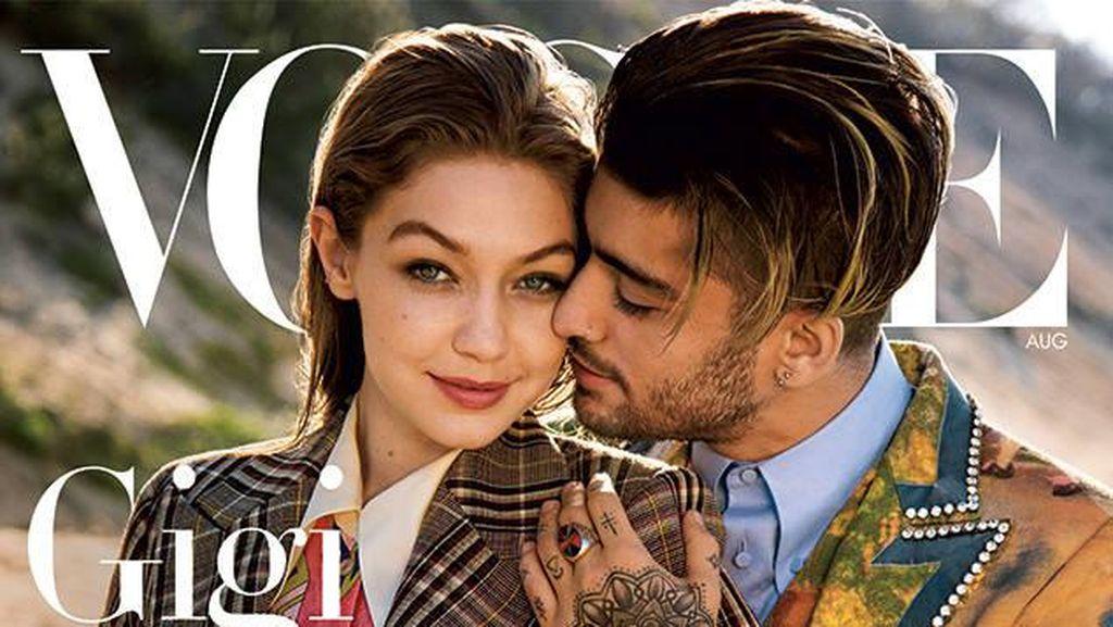 Kemesraan Gigi Hadid dan Zayn Malik di Sampul Vogue Dikritik, Kenapa?