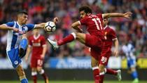 Liverpool Imbang dengan Wigan, Salah Cetak Gol Debut