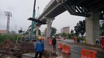 2 Zona LRT Palembang Mulai Dipasang Rel