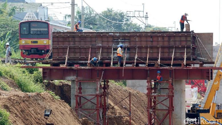 Progres Pembangunan Jalur DDT Manggarai-Cikarang