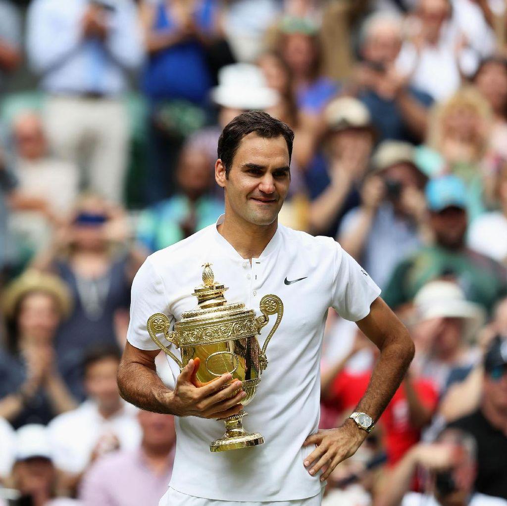 Torehan-Torehan Spesial Federer Usai Juara di Wimbledon