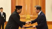 Dubes Umar Hadi Serahkan Surat Kepercayaan ke Presiden Korsel