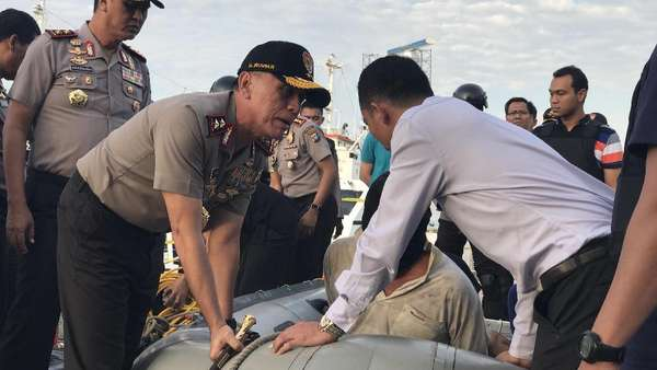 5 Kru Kapal Penyelundup 1 Ton Sabu Dibayar Rp 5 Miliar