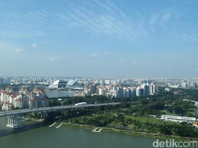Foto: Pemandangan Singapura dari Atas Bianglala Raksasa