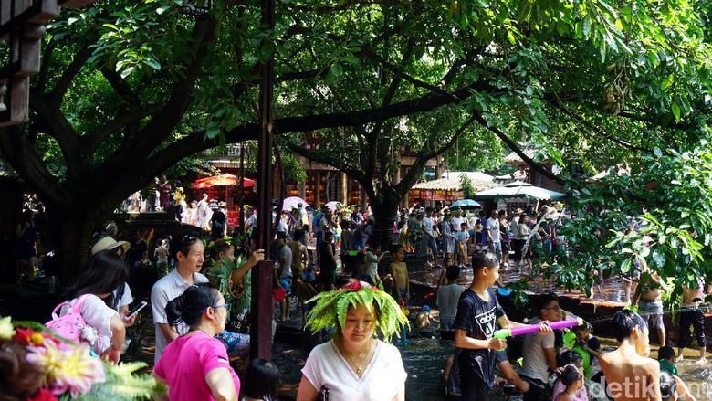 Ramainya liburan musim panas di China (Wahyu/detikTravel)
