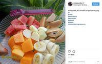 Salah satu menu buah favorit Erma yang diunggah di Instagram-nya