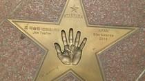 Joe Taslim Cetak Tangannya di Star Park, Korea Selatan