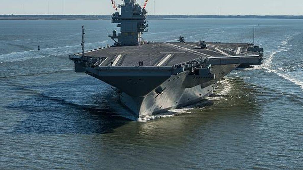 Amerika Pamer Kapal Induk Tercanggih Seharga Rp 173 Triliun
