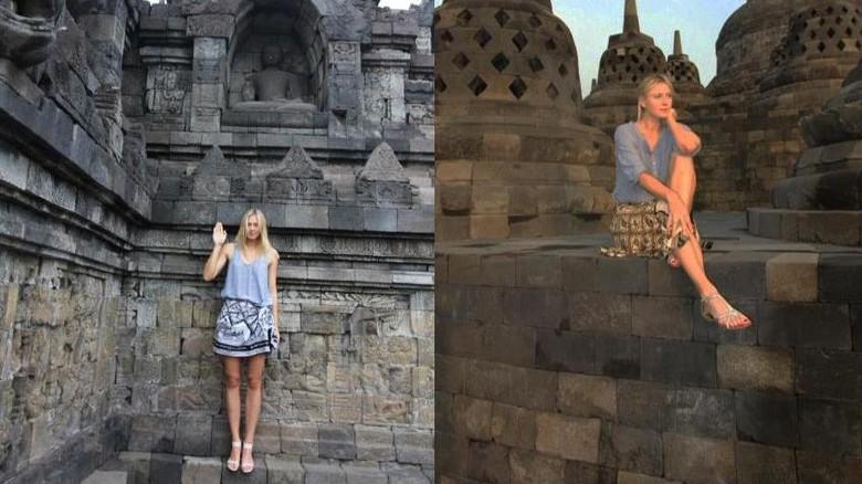 Maria Sharapova di Borobudur (Maria Sharaphova/Facebook)
