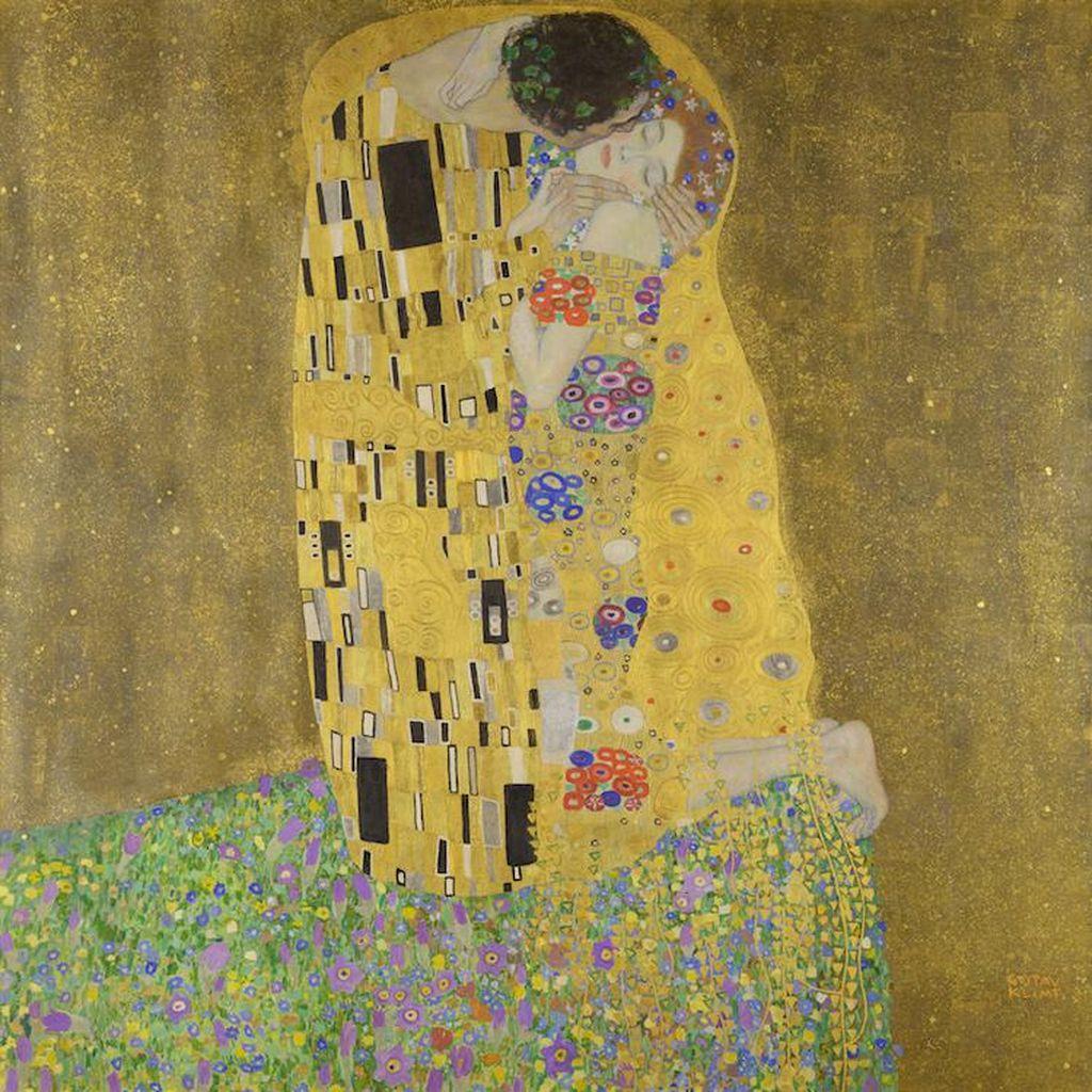 Cerita Tersembunyi di Balik Lukisan Gustav Klimt The Kiss