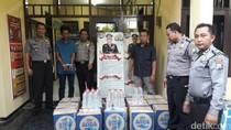 Pengiriman 324 Liter Arak Tuban Dikemas Boks Air Mineral Digagalkan