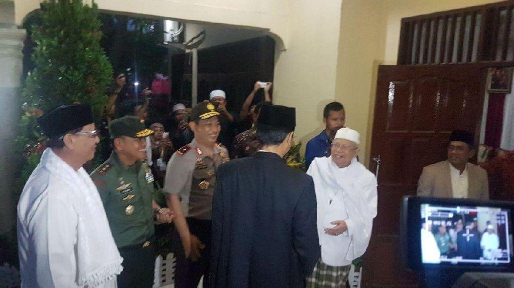 Kepada Jokowi, Maruf Amin Ceritakan Sosok Guru Ulama Indonesia