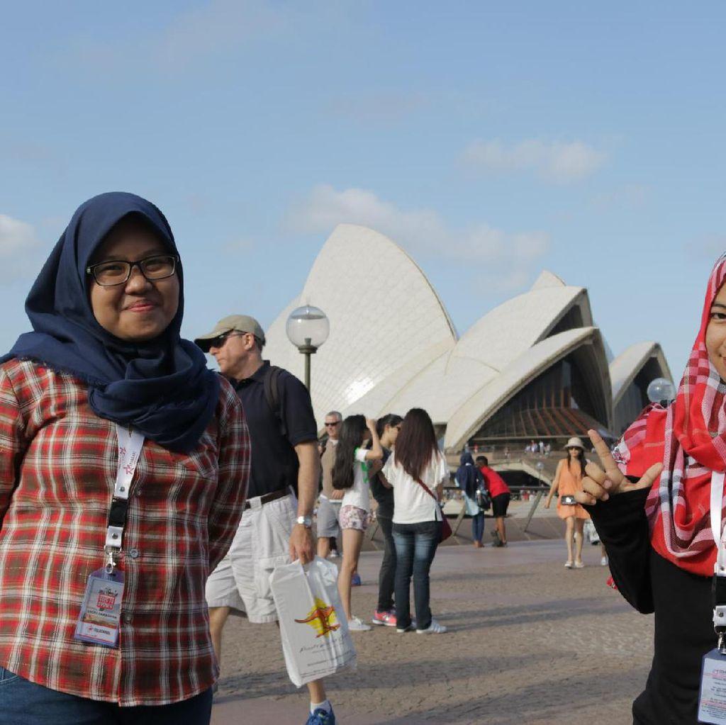 Aktif Berorganisasi Bikin Dhina Belajar dan Liburan di Sydney