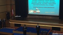 Menhub Budi Lantik 407 Pejabat Pimpinan Tinggi