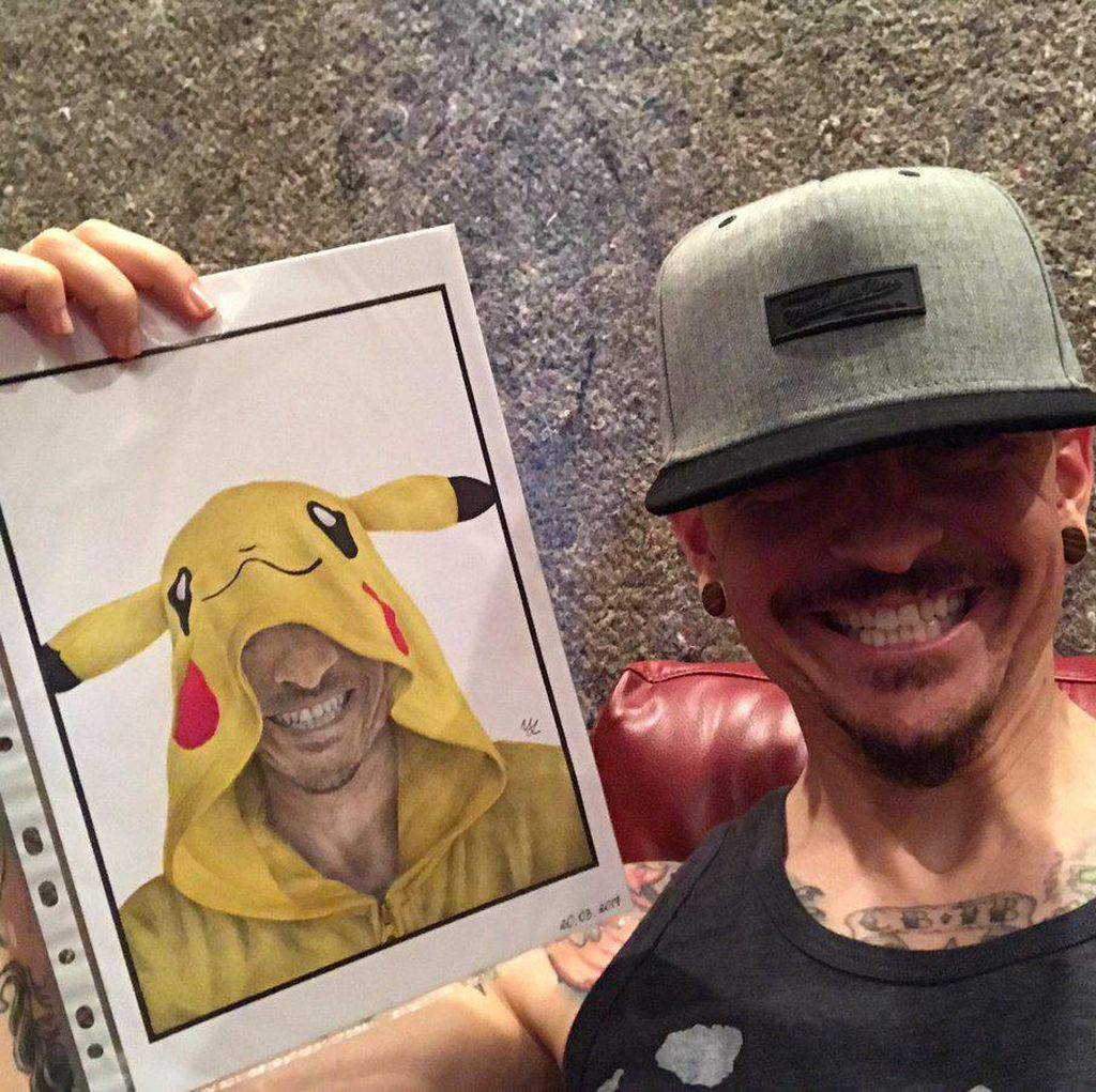 Chester Bennington, Si Penggila Pokemon