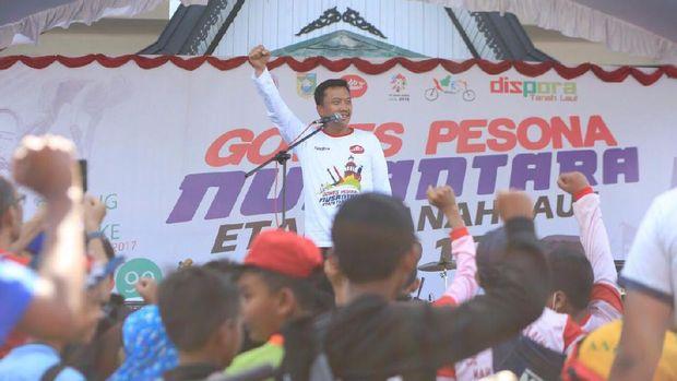 Tiba di Tanah Laut, Gowes Pesona Nusantara Dorong Lahirnya Hari Bersepeda Nasional