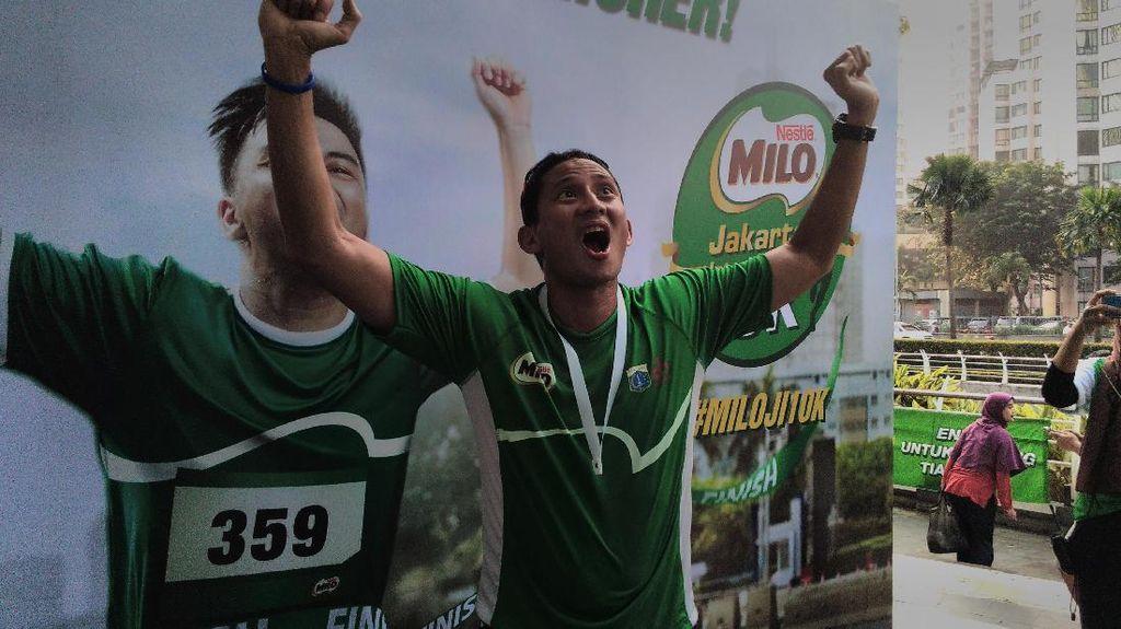 Ikut Lomba Lari 10K, Sandiaga: Ini Harus Jadi Gaya Hidup