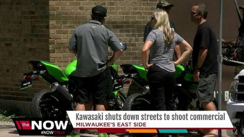 Syuting Iklan Ninja 400, Kawasaki Sampai Tutup Jalanan Kota