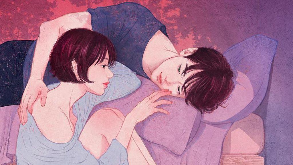 Romantis! Ilustrator Korea Zipcy Bikin Lukisan Momen Intim