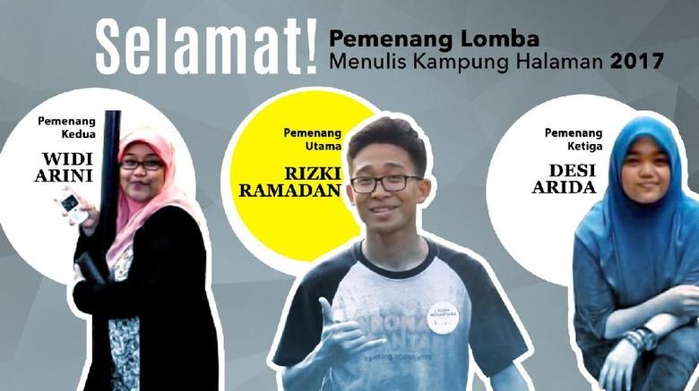 Foto: Pemenang lomba menulis Kampung Halaman 2017 (Fitraya/detikTravel)