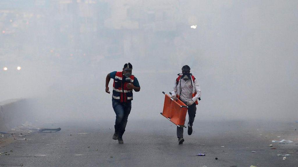 Hujan Gas Air Mata di West Bank, Palestina