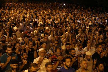 Protes Israel, Warga Palestina Doa Bersama