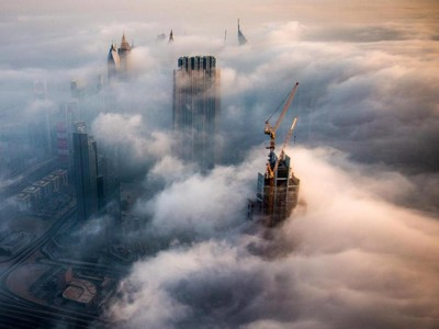 Foto: Fenomena Saat Dubai Jadi Negeri di Atas Awan