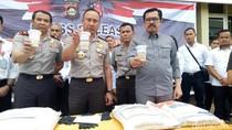 Polisi Amankan 39 Ton Beras Bulog Oplosan di Lahat Sumsel