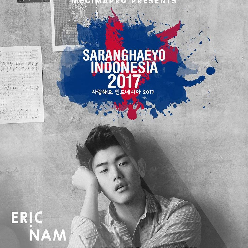 Pengumuman! Eric Nam Sambangi Jakarta Lewat Saranghaeyo Indonesia
