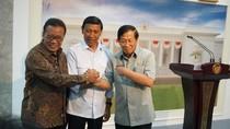 Reuni Singkat 3 Mantan Menko Polhukam di Istana
