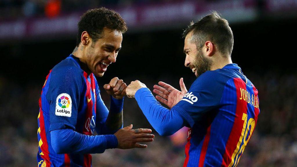 Jordi Alba Tanggapi Rumor Kepindahan Neymar ke PSG
