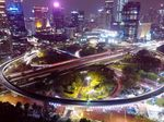 Video Nyala Terang Simpang Susun Semanggi di Malam Hari