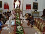 Jokowi Ditemui Purnawirawan TNI untuk Bahas Pancasila di Istana