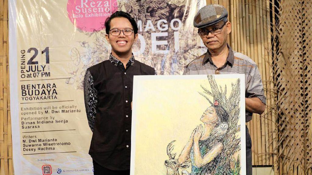 Lukisan Galih Reza Suseno Terinspirasi dari Sosok Pramoedya Ananta Toer