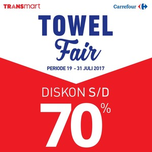 Towel Fair Transmart dan Carrefour Tawarkan Beragam Diskon Handuk