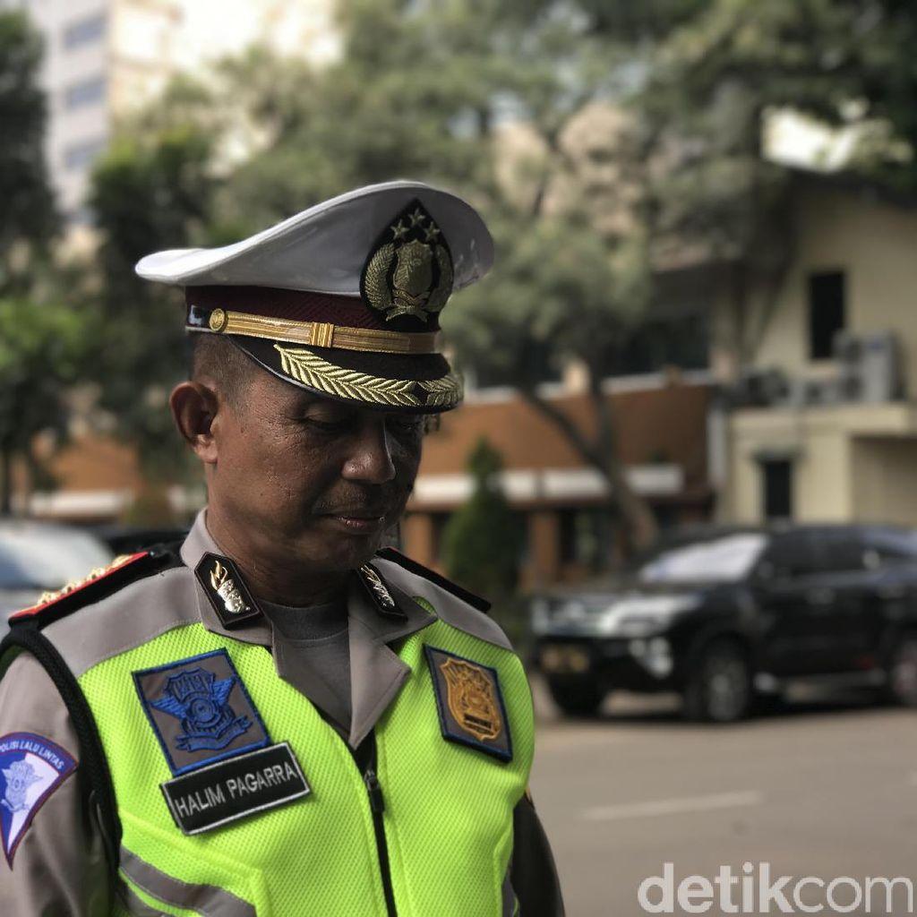 Polisi Siap Akomodir Permintaan Jaminan Kesehatan Pak Ogah Supeltas