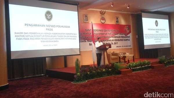 Di Depan Para Rektor, Wiranto: HTI Dibubarkan Kok Dibela