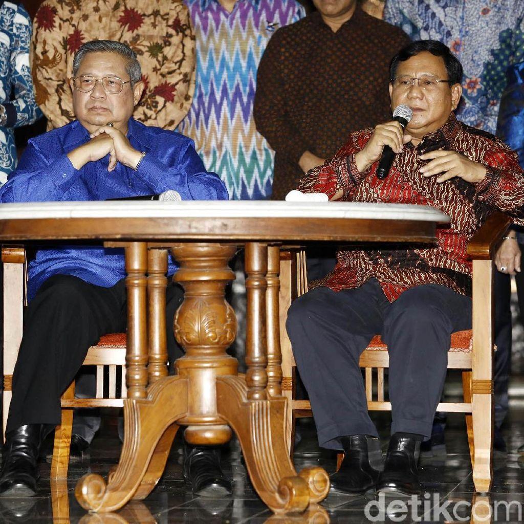 Canda Prabowo Soal Intelijen SBY yang Masih Kuat