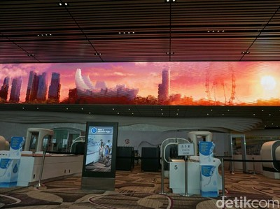 Foto: Terminal 4 Bandara Changi yang Baru, Keren Deh!