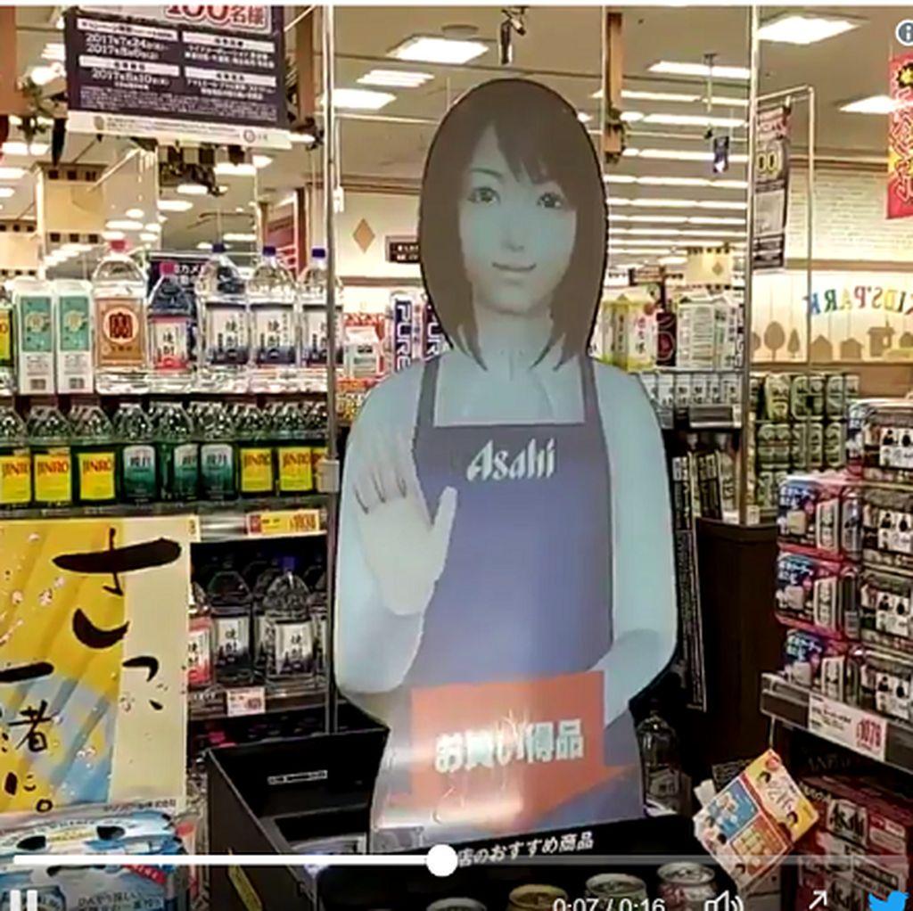 Tak Butuh SPG, Jepang Jualan Bir Pakai Wanita Jadi-jadian